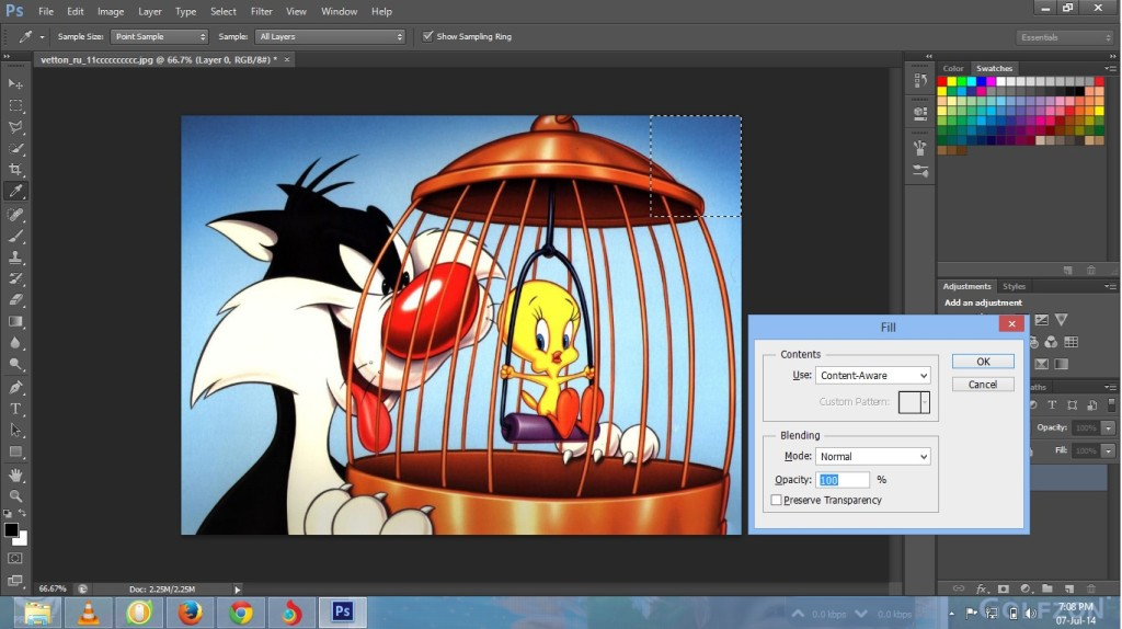 Content-Aware Patch tool in hotoshop CS6