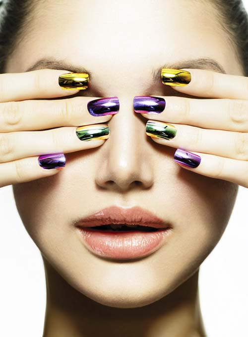 Fashion-Beauty- hot cute sexy Manicure-and-Make-up.-Nail-art.-Beautiful-Woman-With-Colorful-Nails-and-Luxury-Makeup.