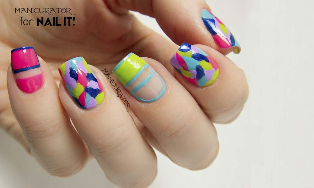 Kiss_Products_Nail_It_Magazine_Mosaic_Freehand COLORFUL NAIL DESIGNS - 20 COLORFUL NAIL DESIGNS 2014