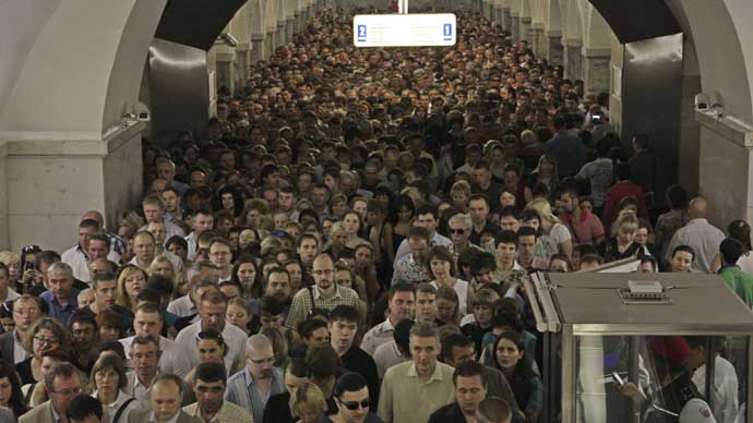 MOSCOW crowd population