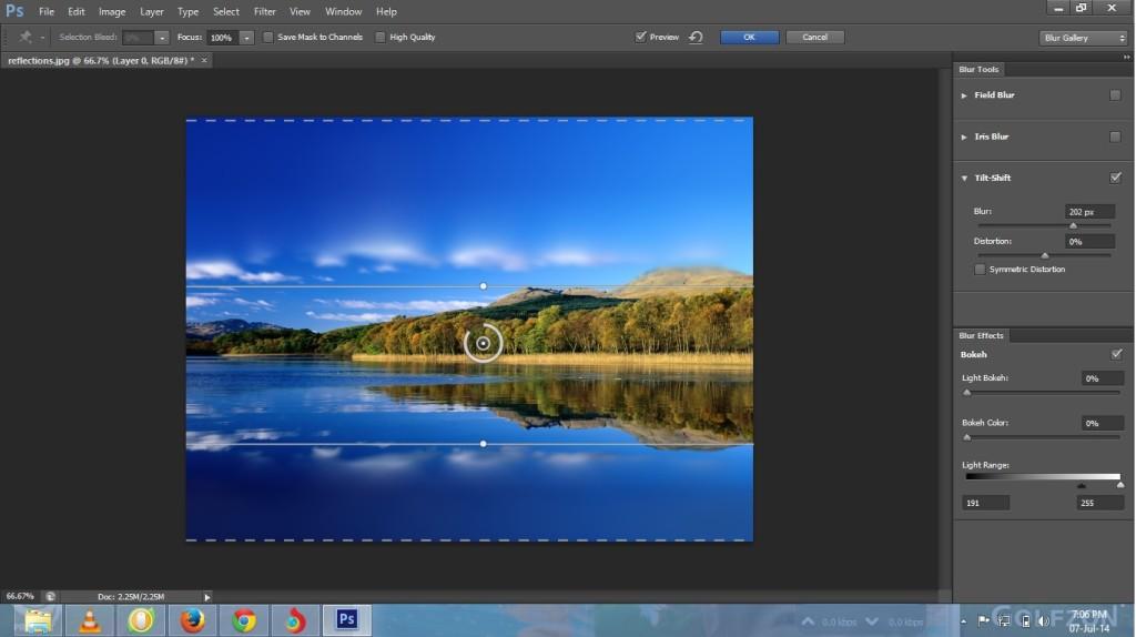 Tilt-Shift in photoshop cs6