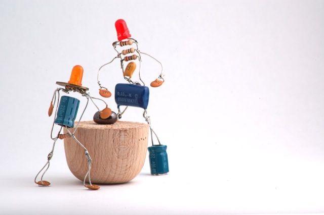 funny electical engineer radio-parts-art
