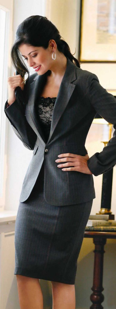 lovely black dress for women office suite