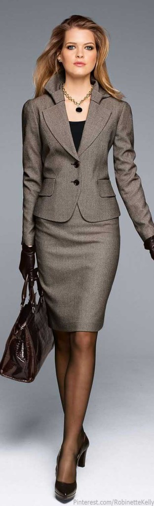 power suit dress for success