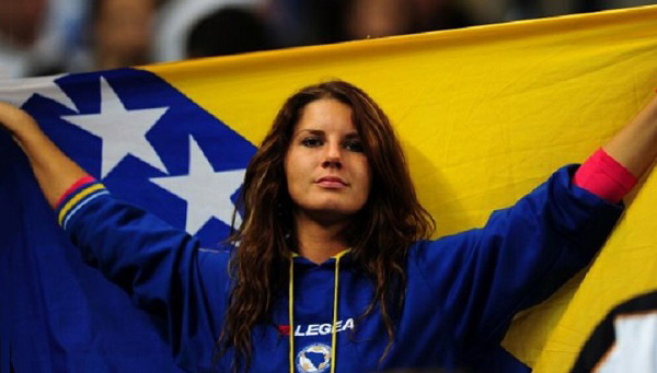 Bosnian-football-fans Most Beautiful Womens Of FIFA 2014 World Cup