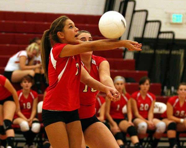 Volleyball cute girl