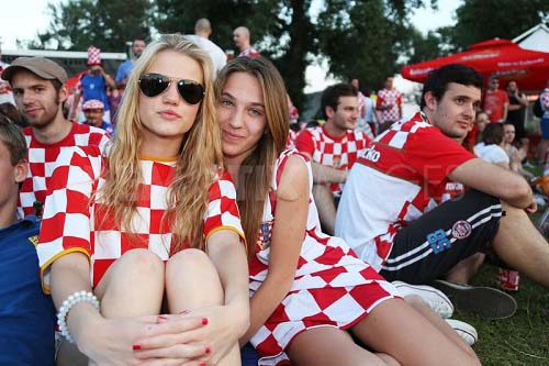 beautiful croatia female women fan girl hot