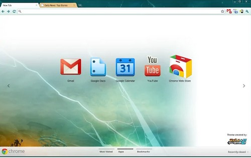 Ratchet theme for chrome browser