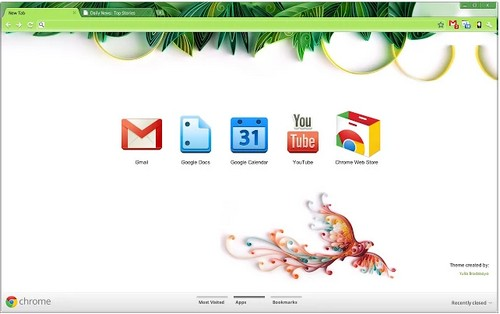 Yulia theme for chrome browser