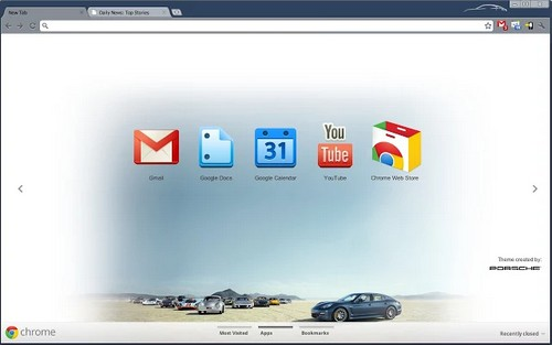 porsche for chrome browser theme