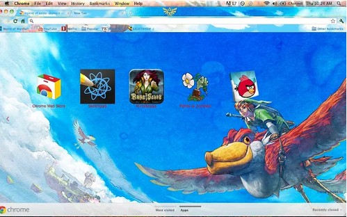 zelda theme for chrome browser