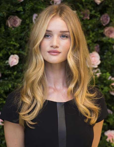 Center-parted Blonde Curls