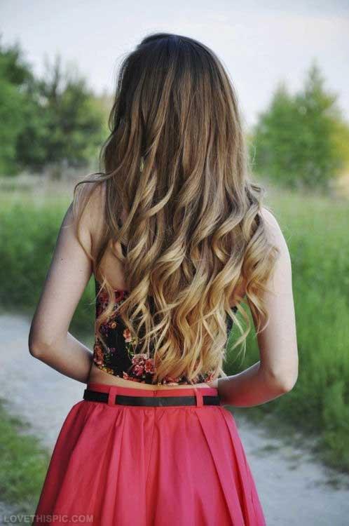 Honey Blonde Long Curls