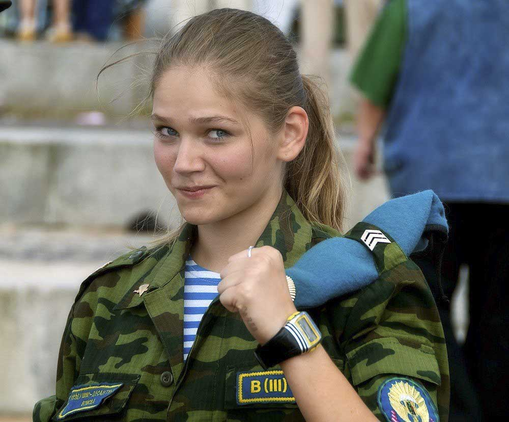 Russian Army female girl hot sexy