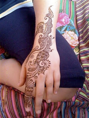 romantic Mehndi Design Arabic Hand