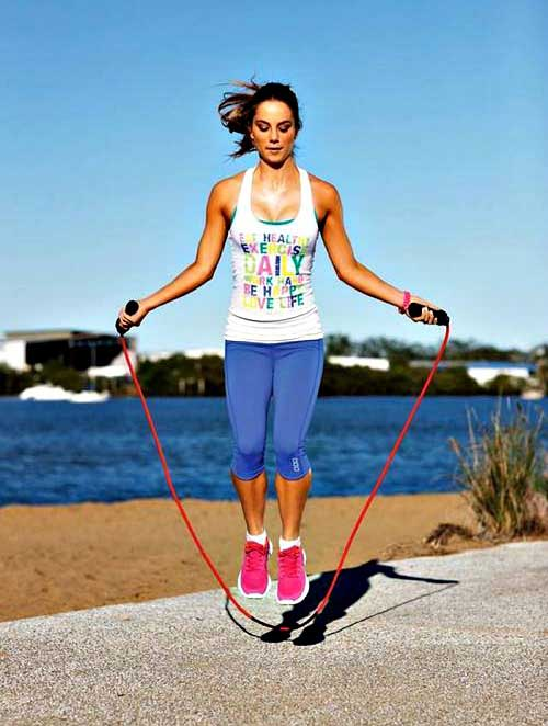 Jumping Rope girl excersise
