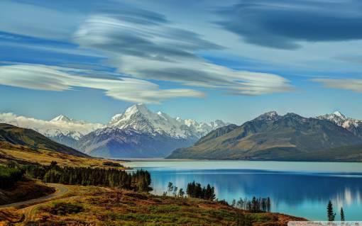 Mount Cook Wide Desktop Background