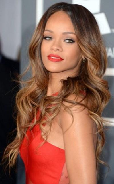 Rihanna-cute-hot-sexy-in-red-dress