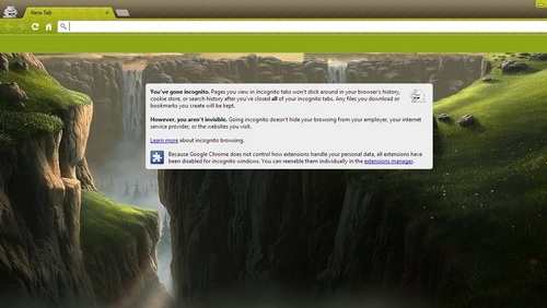 landscape theme for chrome browser