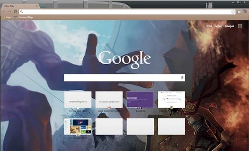 titan theme for chrome browser