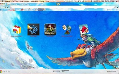 zelda theme for chrome browser